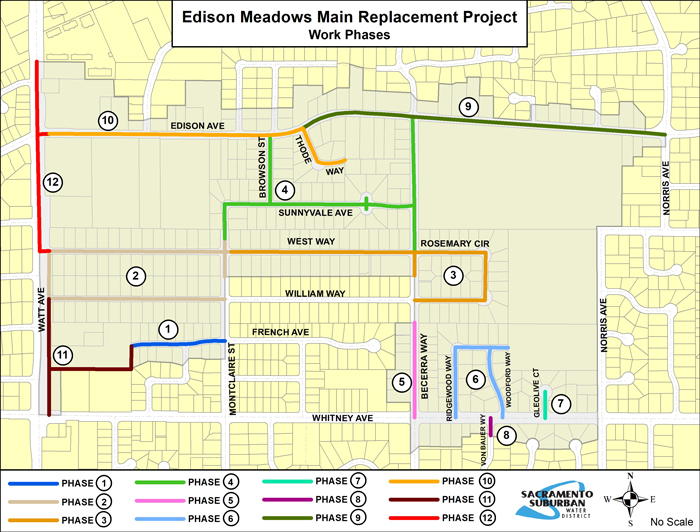 Edison Meadow Phasing Map