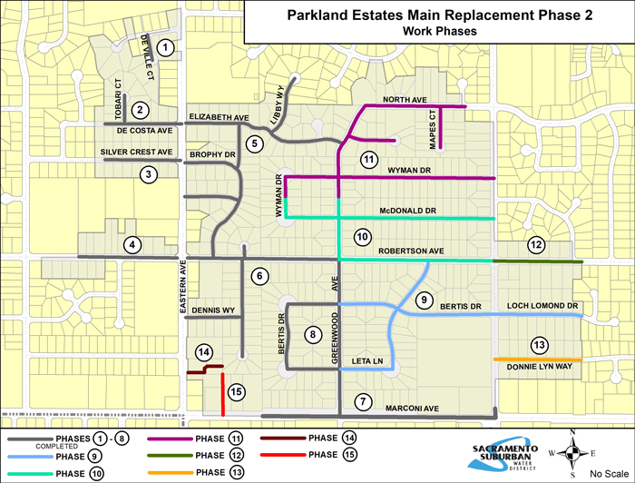 Parkland Estates Main Replacement Phase 2 Phasing Map